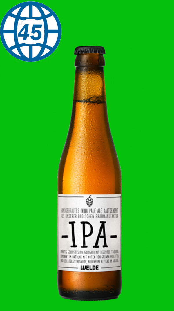 Welde Craft IPA  0,33L Alk 5,6% vol