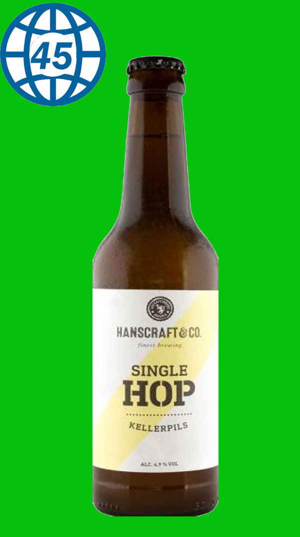 Hanscraft & Co. Single Hop Kellerpils  0,33L Alk 4,9% vol
