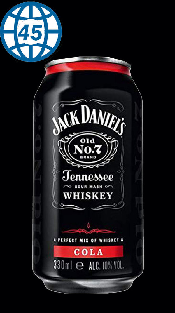 Jack Danies old No.7 Brand Cola 330ml Alk 10%vol