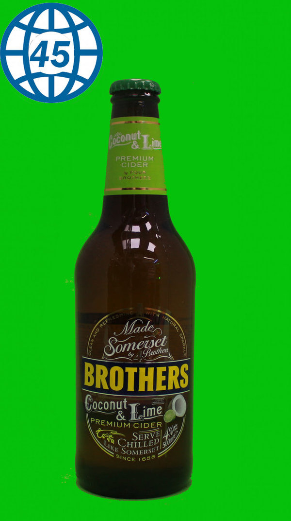 Brothers Coconut & Lime Flavour Cinder 0,5L Alk 5,5% vol
