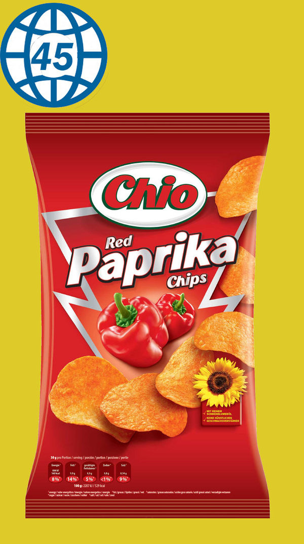 Chio Red Paprika Chips 175g