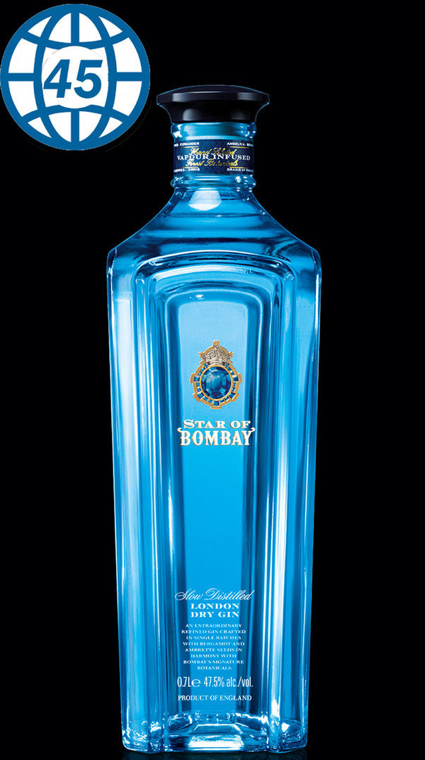 Star of Bombay London Dry Gin 0,7L Alk 47,5% vol