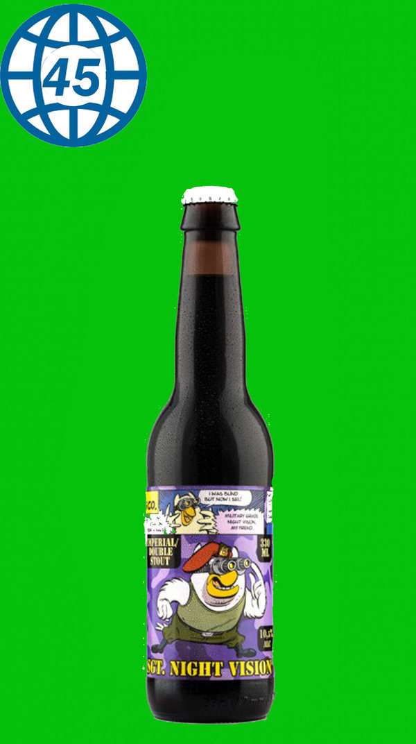 Uiltje Brewing Co.SGT. Night Vision Imperial/Double Stout0,33L Alk 10,5% vol