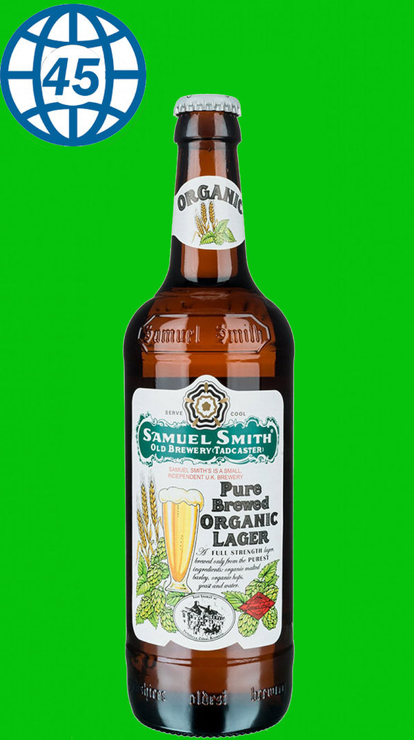Samuel Smith Pure Brewed Organic Lager 0,355L Alk 5% vol