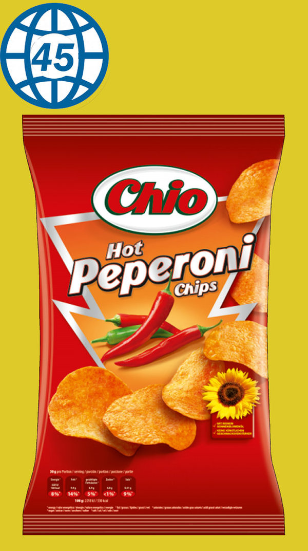 Chio hot pepperoni Chips 175g
