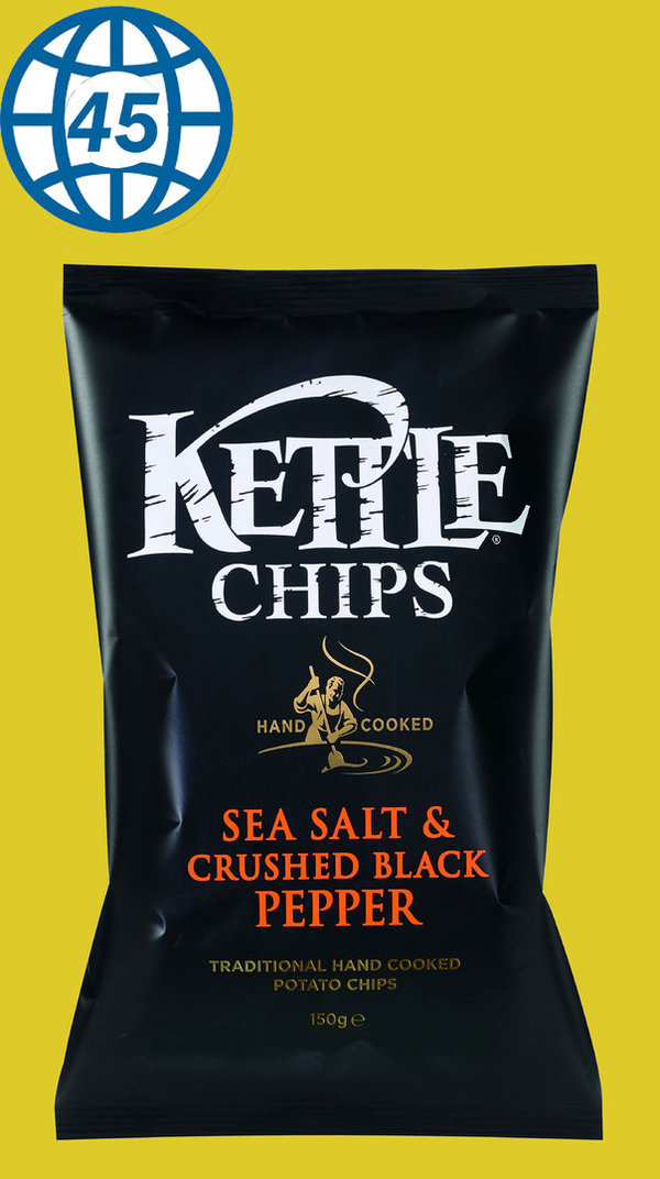 Kettle Chips Sea salt&Crushed Black Pepper 150g