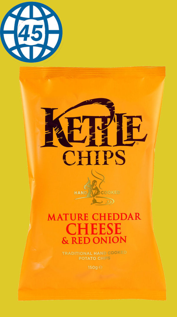 Kettle Chips Nature Cheddar Cheese & red Onion 150g